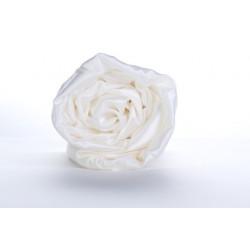 Drap-housse en soie taupe 22 mm